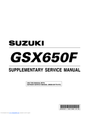 Suzuki GSX650F Supplementary Service Manual