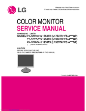 LG FLATRON L1753TR SERVICE MANUAL Pdf Download