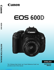 Canon EOS Rebel T3i Manuals