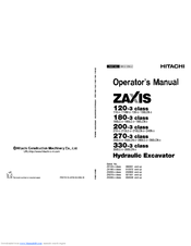 Hitachi ZAXIS 330-3 class Operator's Manual