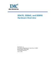 EMC EMC2 DD670 HARDWARE OVERVIEW Pdf Download