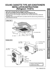 Lg CEILING CASSETTE TYPE AIR CONDITIONERS Manuals