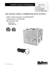 mcquay acz 055a manuals rh manualslib com McQuay Chiller McQuay HVAC Chiller