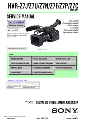 sony hvr z7u manuals rh manualslib com Sony Z7U Cinema Lens Sony Z7U Prime Lens
