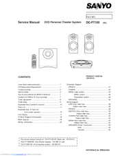 Sanyo DC-PT100 Service Manual