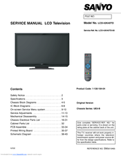 sanyo lcd 42k40td manuals rh manualslib com sanyo lcd tv service manual sanyo 24 lcd tv manual