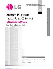 Lg multi V system indoor unit (2 series Manuals