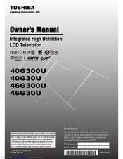 toshiba 40rv525u owners manual