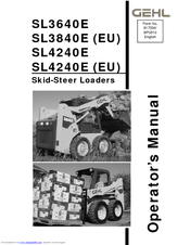 Gehl SL3840E (EU) Manuals