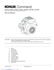 kohler command ch25 manuals