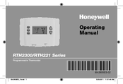 Honeywell RTH2300 series Operating Manual