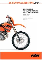 ktm 250 exc racing 2004 owner s manual pdf download