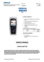 nokia 2600 rh 59 manuals rh manualslib com Nokia 2630 Nokia 2610