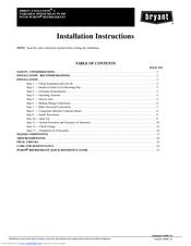 Bryant FE4ANB006 Manuals