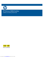 HP ProCurve 5412zl-96G-PoE+ Installation And Getting Started Manual