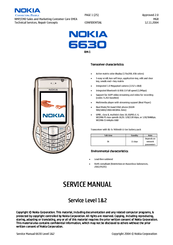 NOKIA 6630 RM-1 SERVICE MANUAL Pdf Download