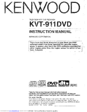 Kenwood KVT911DVD - Mobile DVD/CD Player Instruction Manual
