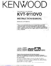 Kenwood KVT911DVD - Mobile DVD/CD Player Instruction Manual