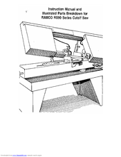 Instructions and Parts Manual Ramco RS90 Cut Off Saw