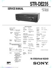 SONY STR-DE235 SERVICE MANUAL Pdf Download.