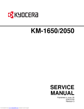 kyocera km 1650 km 2050 service repair manual parts list