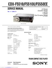 sony cdx f5510 xt xm1 manuals rh manualslib com Sony Gt260mp Sony Car Radio CD Player