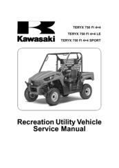 Kawasaki Teryx 750 Fi Service Manual Pdf Download Manualslib