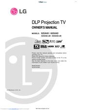 lg 52sx4d ub manuals rh manualslib com LG Touch Phone Operating Manual LG Cell Phone Manuals