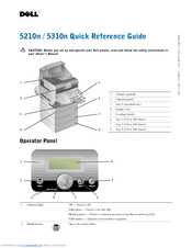 Dell 5310n Mono Laser Printer Quick Reference Manual