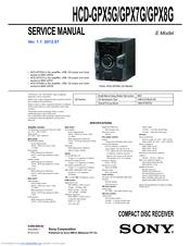 SONY HCD-GPX5G SERVICE MANUAL Pdf Download