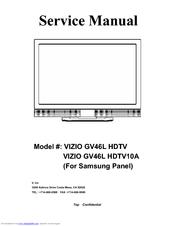 Vizio Gallevia GV46LHDTV10A Manuals