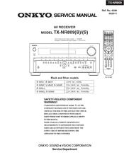 onkyo tx nr809 manuals rh manualslib com onkyo tx-nr809 instruction manual