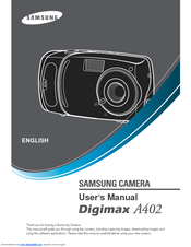 samsung a402 digimax 4mp digital camera manuals rh manualslib com Samsung Digimax A7 Samsung Digital Camera Review