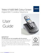telstra v1600 sms colour screen manuals rh manualslib com telstra v580a cordless phone manual