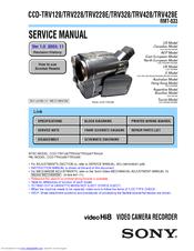 Sony    Handycam    CCDTRV328 Manuals