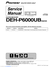 Pioneer DEH-P6000UB - Radio / CD Service Manual