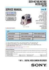 Sony DCRHC20  Digital    Handycam    Camcorder Manuals