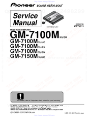 Pioneer GM-7100UC Service Manual
