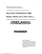 Pioneer YN030-3 User Manual
