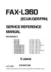 DRIVER FAX-L360 TÉLÉCHARGER CANON