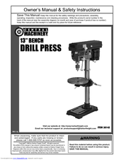 central machinery bench drill press manuals rh manualslib com central machinery 12 speed drill press manual central machinery 12 speed drill press manual