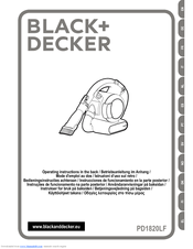Black & Decker PV1825NR Operating Instructions Manual