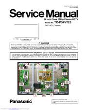 panasonic tcp54vt25 54 plasma 3d tv manuals rh manualslib com
