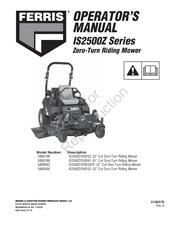 FERRIS IS2500Z SERIES OPERATOR'S MANUAL Pdf Download