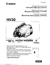 canon hv20 vixia camcorder 1080i manuals rh manualslib com Instruction Manual User Manual Template