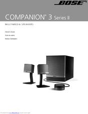 bose companion 3 series ii manuals. Black Bedroom Furniture Sets. Home Design Ideas