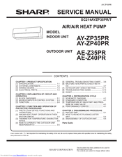 Sharp AY-ZP40PR Service Manual