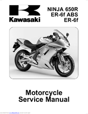 KAWASAKI ER-6F ABS SERVICE MANUAL Pdf Download