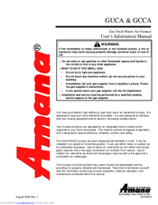 Amana GUCA User's Information Manual