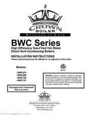 Crown Boiler BWC120 Manuals